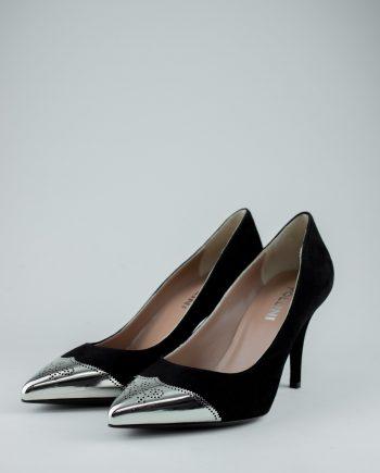 Pollini metallic tip heels