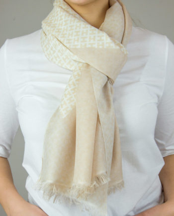 34. HEMISPHERE Beige scarf