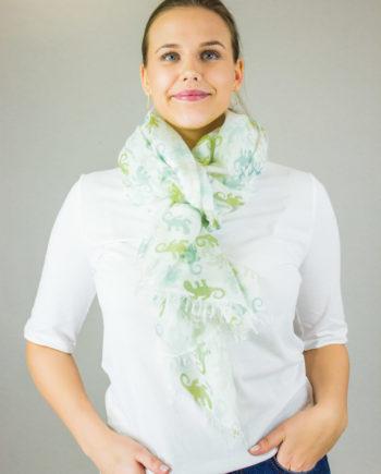 HEMISPHERE Gecko scarf