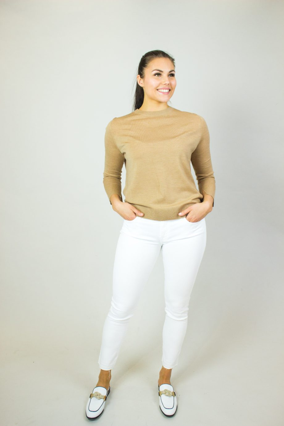 8. ALLUDE Camel wool sweater