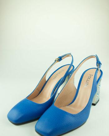 POLLINI Sky blue slingback heels