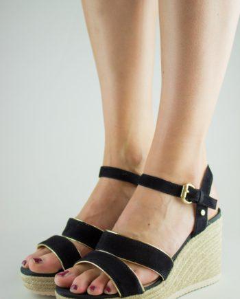 GEOX Black Wedge sandals