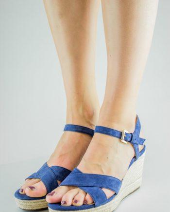 GEOX Blue Wedge sandals