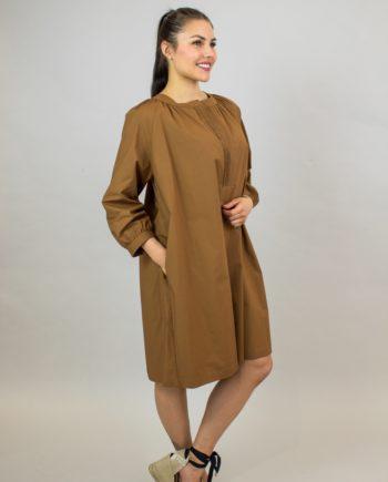 Seventy Camel poplin dress