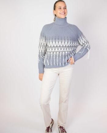 Fabiana Filippi grey frill sweater